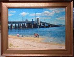 Ocean Beach Seascape Oil Painting by Michael Budden Summers Point Ocean City NJ