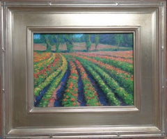 Floral Landscape Impressionistic Oil Painting by Michael Budden Summer Fields IV