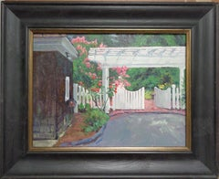 Floral Landscape Summer Garden Impressionistic Oil Painting by Michael Budden