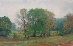 Impressionistic Autumn Landscape Painting Michael Budden Early Autumn Farm