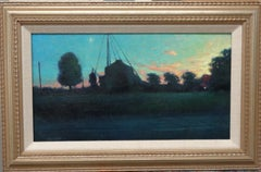 Impressionistic Contemporary Landscape Painting Michael Budden Evening Farm
