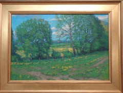 Impressionistic Farm Landscape Oil Painting Michael Budden Glorious Spring