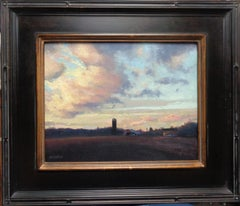 Impressionistic Farm Landscape Oil Painting Michael Budden Sky Cloud Study