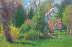 Impressionistic Floral Landscape Oil Painting by Michael Budden Early Spring