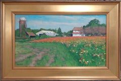 Impressionistic Floral Landscape Oil Painting by Michael Budden