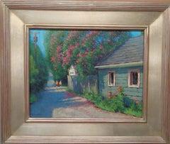 Impressionistic Floral Landscape Painting Michael Budden Alley Walk
