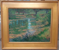 Impressionistic Landscape Oil Painting by Michael Budden Beautiful Light Pond