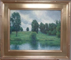 Impressionistic Landscape Oil Painting by Michael Budden Fishing Hole