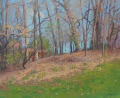 Impressionistic Landscape Oil Painting Michael Budden Spring Hillside