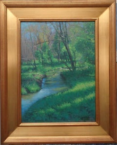 Impressionistic Landscape Oil Painting Michael Budden Spring Stream
