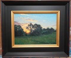 Impressionistic Landscape Oil Painting Michael Budden Sunrise Farm