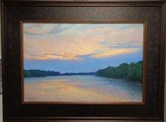 Impressionistic Landscape Oil Painting Michael Budden Sunset River