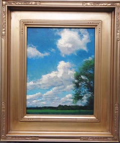 Impressionistic Landscape Oil Painting Summer Sky by Michael Budden