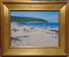 Impressionistic Maine Seascape Oil Painting Michael Budden Sand Beach Acadia