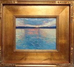 Impressionistic Marine Oil Painting Michael Budden Sunrise Reflections