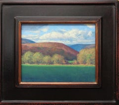 Impressionistic Mountain Landscape Oil Painting Michael Budden Vermont Hills I
