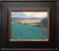 Impressionistic Mountain Landscape Oil Painting Michael Budden Vermont Hills II
