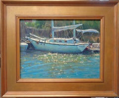 Impressionistic Oil Painting Michael Budden Sail Boat