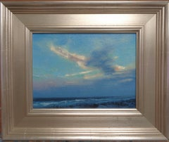 Impressionism Realistic Seascape Study Oil Painting Michael Budden Sunset