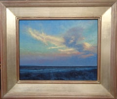 Impressionistic Realist Seascape Oil Painting Michael Budden Beach Sunset