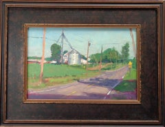 Impressionistic Rural Farm Landscape Oil Painting Michael Budden Morning Light