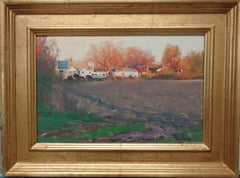 Impressionistic Rural Farm Landscape Oil Painting Michael Budden Shadow & Light