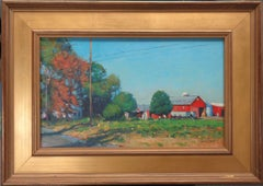 Impressionistic Rural Farm Landscape Painting Michael Budden Autumn Farm