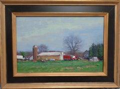Impressionistic Rural Farm Landscape Painting Michael Budden