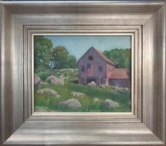 Impressionistic Rural Farm Landscape Painting Michael Budden Mystic CT