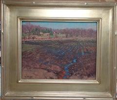 Impressionistic Rural Landscape Oil Painting Michael Budden Farm Fields