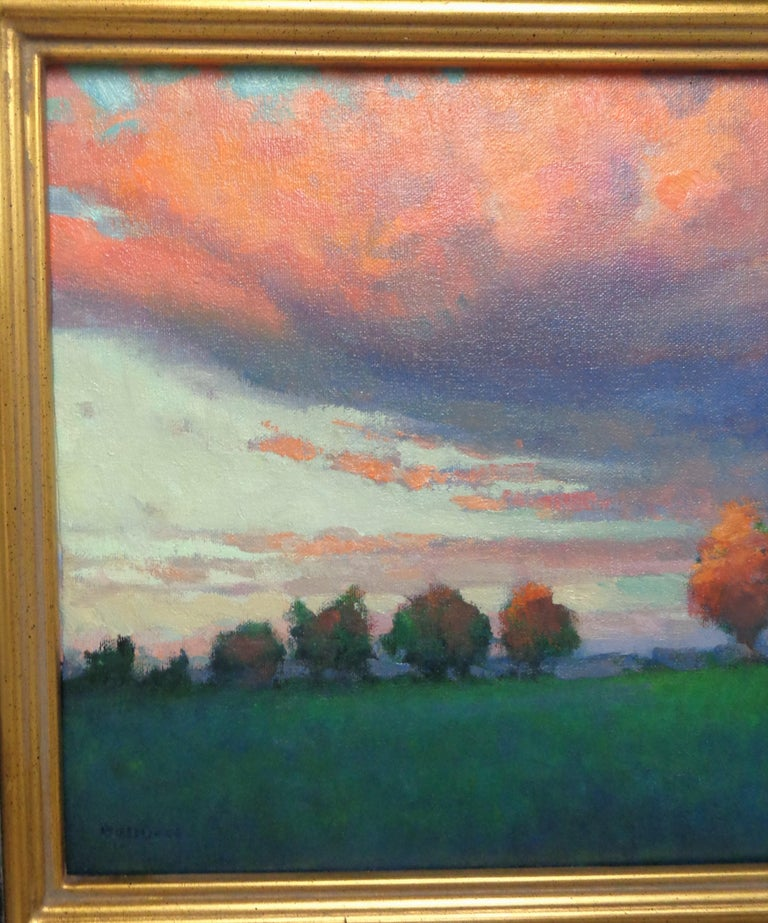 Impressionistic Rural Landscape Oil Painting Michael Budden Sunset Inspiration For Sale 1