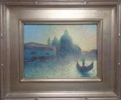 Impressionistic Seascape Venice Painting Michael Budden Morning Light
