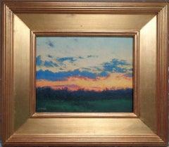 Impressionistic Sky Landscape Oil Painting Michael Budden Evening Colors
