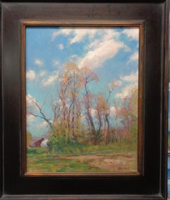 Landscape Impressionistic Oil Painting Springtime by Michael Budden
