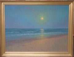 Moonlight Seascape Ocean Beach Oil Painting Michael Budden