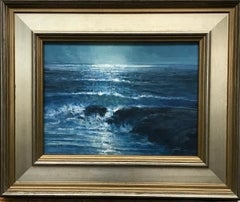 Moonlight Seascape Oil Painting by Michael Budden