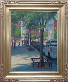 New York City 5th Avenue Oil Painting Michael Budden Washington Square Spring