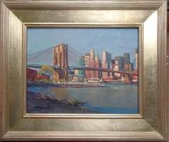 New York City Brooklyn Bridge PLein Air Painting Michael Budden