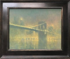 New York City Brooklyn Bridge Salmagundi Award Winning Painting Michael Budden