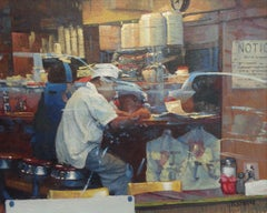 New York City Diner Realistic Oil Painting Michael Budden