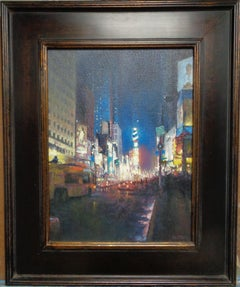 New York City Nocturne Oil Painting Michael Budden Times Square