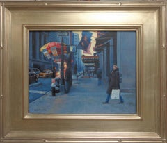 New York City Nocturne Painting Michael Budden Early Evening St Regis Hotel