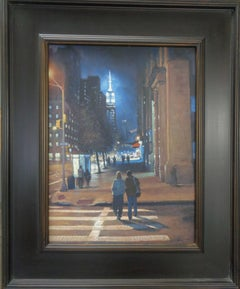 New York City Nocturne Painting Michael Budden Empire Evening