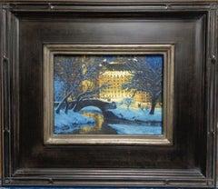 New York City Oil Painting by Michael Budden Gapstow Bridge Central Park & Plaza