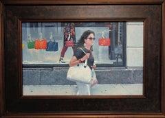 New York City Oil Painting Michael Budden 5th Ave Elegence & Bergdorf Goodmans