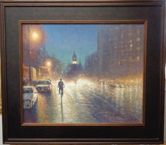 New York City Oil Painting Michael Budden Evening Ride, 6th Avenue