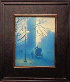 New York City Oil Painting Michael Budden Flatiron Circa 1902