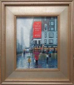 New York City Oil Painting Michael Budden Rainy Day Macy's