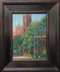 New York City Painting Michael Budden 5th Avenue First Presbyterian Church