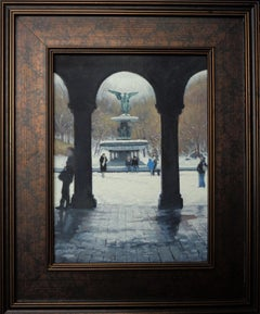 New York City Painting Michael Budden Bethesda Fountain Angel of the Waters